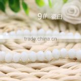 Solid Jade White 2mm to 12mm AAA Quality Wholesales Fashion Loose Crystal Facted Roundelles Glass Beads for Jewelry Cheapest