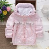 pink baby girl windproof jackets express shipping fancy jackets for 2-6years