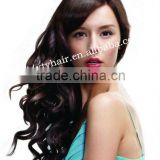 alibaba express wholesale synthetic hair wigs grade 5a beautiful cholcalate wave hair fashion lady's hair long wig