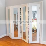Contemporary bifold mirror engineered wood doors for study room and office