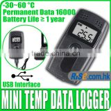 USB High Accuracy 16000 Points Temperature Data logger Datalogger Temp Recorder