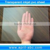 A4 0.3mm thickness Transparent Inkjet printing pvc plastic sheet id business card materials
