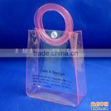 clear pvc snap closure plastic pvc clear bag