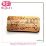Custom made Wooden Educational Toy shaped remote for kid (Wood craft in laser cut&engraving)