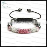 Fashion gradient PINK bar shamballa bracelet