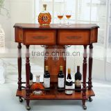 Wooden antique home bar cabinet/hanging wine glass rack