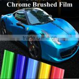 New products of colorful aluminum brushed chrome car body wrap sticker