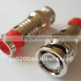 Compression BNC Male Connector Plug CCTV RG6 Cable