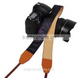 custom leather camera strap Leather Strap Shoulder Neck Blue Rose Flower Pattern For DSLR Camera LG-03