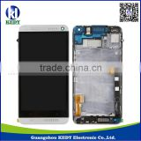 Mobile phone lcd for HTC one M7 , lcd screen digitizer assembly with frame for htc one m7