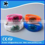 Sound or Motion active sensor LED Silicon Wristbands Bracelets                                                                         Quality Choice