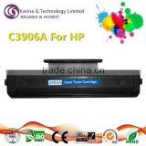 Stable quality C3906A for HP laser printer compatible toner cartridge ,12 months warranty