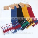 Retro fashion design young girls socks with several color wholesale
