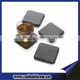 Small gifts art crafts stone black mats square slate coaster