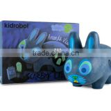 Bule Labbit 10 inch Scaredy Vinyl Toy/Custom design urban vinyl toy for sale/make your own vinyl toy China Factory