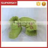 V-126 Hotsell cute knit pattern warm crochet toddler baby shoe indoor knitted newborn shoe slippers