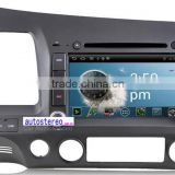 Autostereo Android Car DVD for Civic GPS Navigator Touch Screen TV Built-in GPS CD Player Radio Tuner MP3 MP4 Players Blueto
