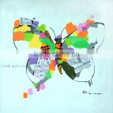 hand-painted butterfly oil painting home decoration with wood Framed,animal oil painting