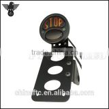 "Motorcycle Side Mount License Plate Bracket ""Stop"" Tail light Brake Lamp For Harley Chopper, Bobber"