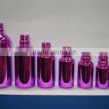 10ml -120ml sprayed color boston round glass essential oil bottle with dropper                                                                         Quality Choice