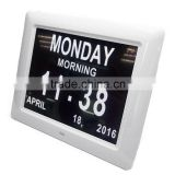 Extra-Large Memory Loss Digital Calendar Day clock 7 inch 8 inch 10 inch photo lcd frame auto dim brightness