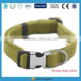 LF High Quality Natural Hemp Dog Collar Soft Lint Collars