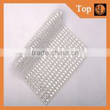 wholesale hot fix rhinestone mesh trimming with 8*8mm glass stone for garment accessories