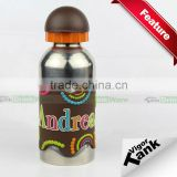 Stainless Steel Kids Sports Bottle with Name Band