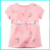 2016 Shiny Butterfly Print customized toddler t-shirts,neon toddler t shirts wholesale toddler t-shirts