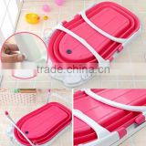 Best selling folding baby bathtub/portable baby bathtub/Good design plastic baby folding bathtub
