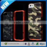 C&T Two piece hybrid gray camouflage rubberized plastic hard cover for iphone 6s tpu bumper cases