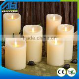 2015 Wax LED Candle Pillar Moving Wick Wedding Use Wax LED Candle Scented Led Candle Light