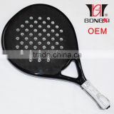Custom high quality 3k graphite & carbon beach paddle tennis racket OEM