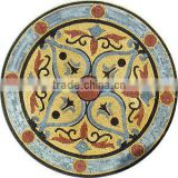 Made in china for bathroom floor and wall art marble flower mosaic tile pattern