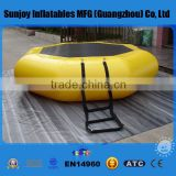 China Hot Wholesale Cheap Adult Kids PVC Inflatable Water Trampoline Floating Trampoline for Sale