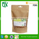 Import from china milk powder packaging bag zipper stand up brown paper bag for coconut milk