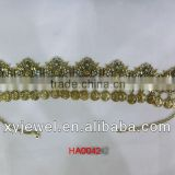 Factory supply chain headwraps floral adornments for the hair and hair accessories diamante