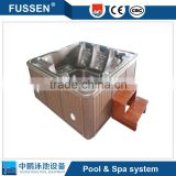 Swimming pool outdoor swim spa dual zone swim spa massage spa