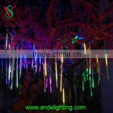 Tree decoration metor shower rain drop led falling star light