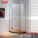 Diamond tempered glass corner bath shower cubicle