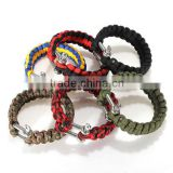 6 Colors Self-rescue Adjustable Paracord Survival Bracelet 7 Strand Handmade Weave Parachute W/ Cord Shackle Buckle Bracelets