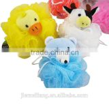animal figure mesh bath sponge&animal head kids bath ball&animal shaped bath sponge