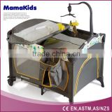 portable large playpen for babies with a big turning over changer