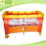 Second layer Play Playard Baby Travel Portable Crib Playpen with kid toy