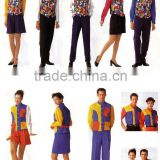 restaurant waiter uniform/bar staff uniforms/fashion