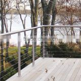 2016 modern design DIY install stainless steel cable deck porch railing