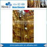 Tempered Glass Sightseeing Elevator with VVVF Drive for Commercial Building and Shopping Mall