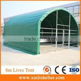 6m x6 m x3.7m PVC Cover Waterproof Steel Livestock Shelter