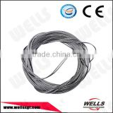 Wells Factory CE 8mm 7x7 stainless steel 304 lifting wire rope