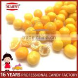 Bright Yellow Center Filled Fruit Chewy Soft Candy